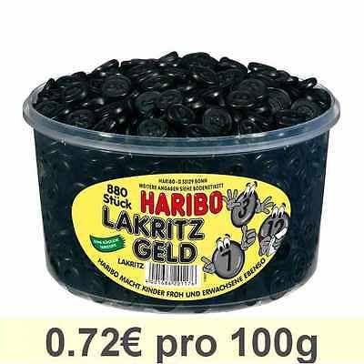 Haribo Lakritz Geld Gummibärchen Weingummi Fruchtgummi 880 Stück 1232 g Dosesparen25.com , sparen25.de , sparen25.info