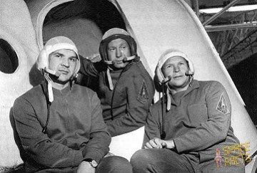 The original Soyuz 11—from the left, Valeri Kubasov, Alexei Leonov, and Pyotr Kolodin—were grounded shortly before launch by an unfortunate medical misdiagnosis (Credita: Joachim Becker/SpaceFacts).