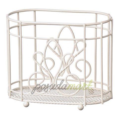Подставка для столовых приборов De Lis, 19 см, сталь, белый, серия Кухонная посуда и аксессуары, Premier