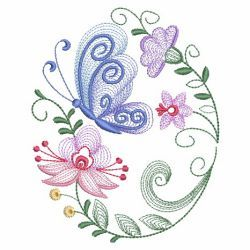 Rippled Butterflies 5 10(Sm) machine embroidery designs