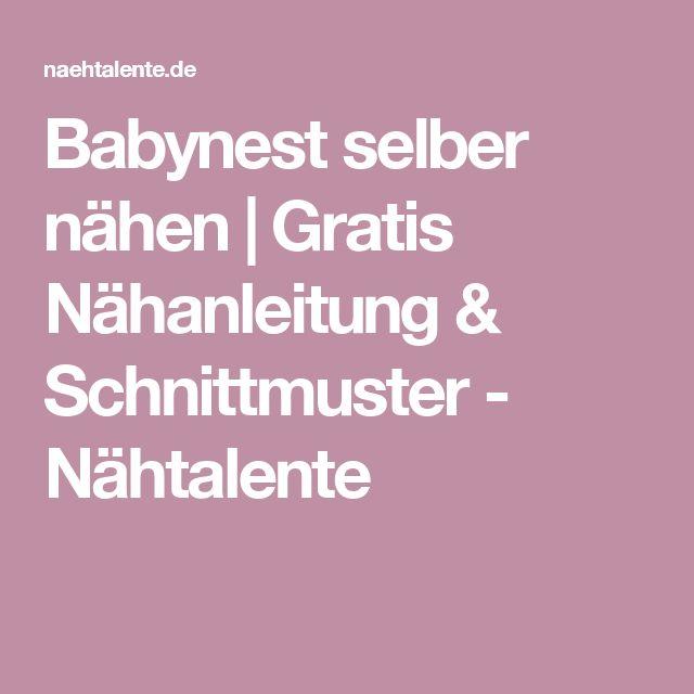 Babynest selber nähen   Gratis Nähanleitung & Schnittmuster - Nähtalente