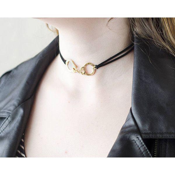 Fashion Jewelry Handcuffs Necklace Punk Jewelry Charm Choker Necklace ($8.90) ❤ liked on Polyvore featuring jewelry, necklaces, punk necklace, charm necklace, charm jewelry, choker necklace and handcuff necklace