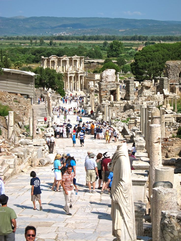 Ephesus, Turkey.  If you look closely, the roads are MARBLE.  Very difficult to walk on.