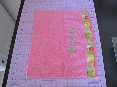 Hooded Toddler Towel - A Tutorial
