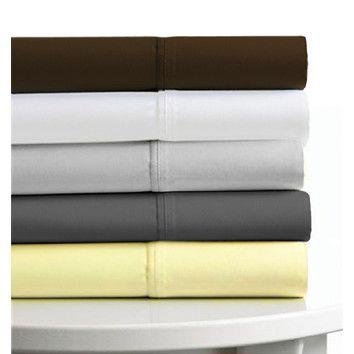 Tribeca Living 4-Piece Egyptian Cotton Sateen 600 Thread Count Deep Pocket Sheet Set
