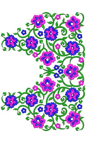 9312 Blouse Embroidery Design