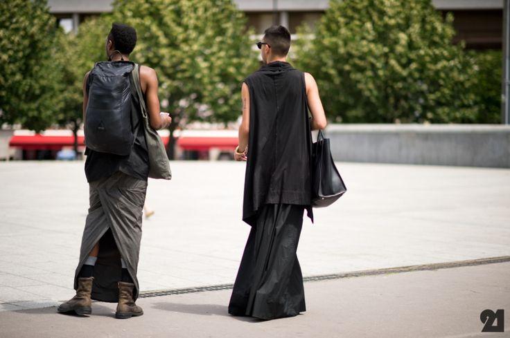 men skirt | Finally seeing the Rick owens' men's skirts on the street!