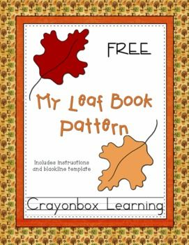 FREE Fall Leaf Printable Booklet Template - have your kids collect leaves and assemble them into this book, and describe them as handwriting, sentence & adjective practice.