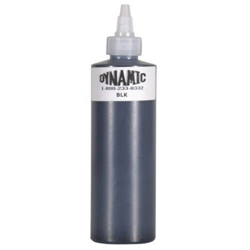 Dynamic Black Ink 8 Oz Tattoo Ink. This black ink is a thinner alternative to Mom's Blackout All Purpose Ink.
