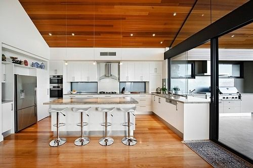 Alver Residence by Cambuild Luxurious contemporary single family house designed by Cambuild located in the city of Perth, Australia. #kitchen