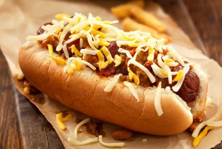 Ballpark Chili Dogs -- almost like being at the game!