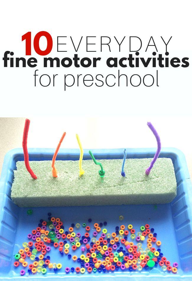 10 Everyday Fine Motor Activities for Preschool Ev…