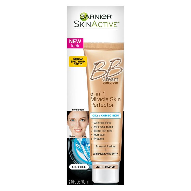 Garnier SkinActive Miracle Skin Perfector BB Cream Oily/Combo Skin Light/Medium - 2 fl oz