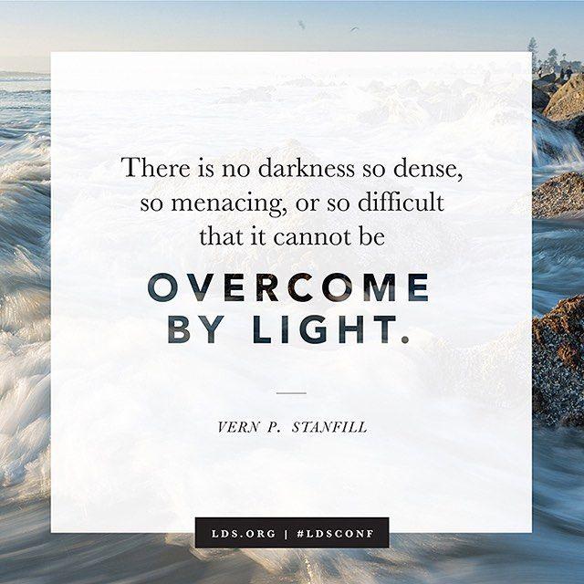 Light vs. darkness. Light wins. #truth #ldsconf