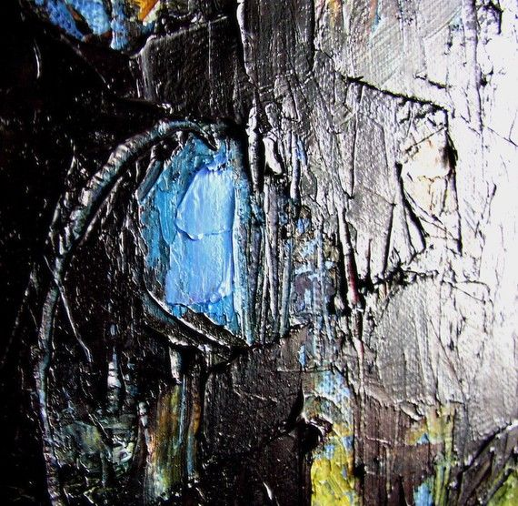 Abstract painting Tarry Night expressionist by Mossmottle on Etsy, $375.00