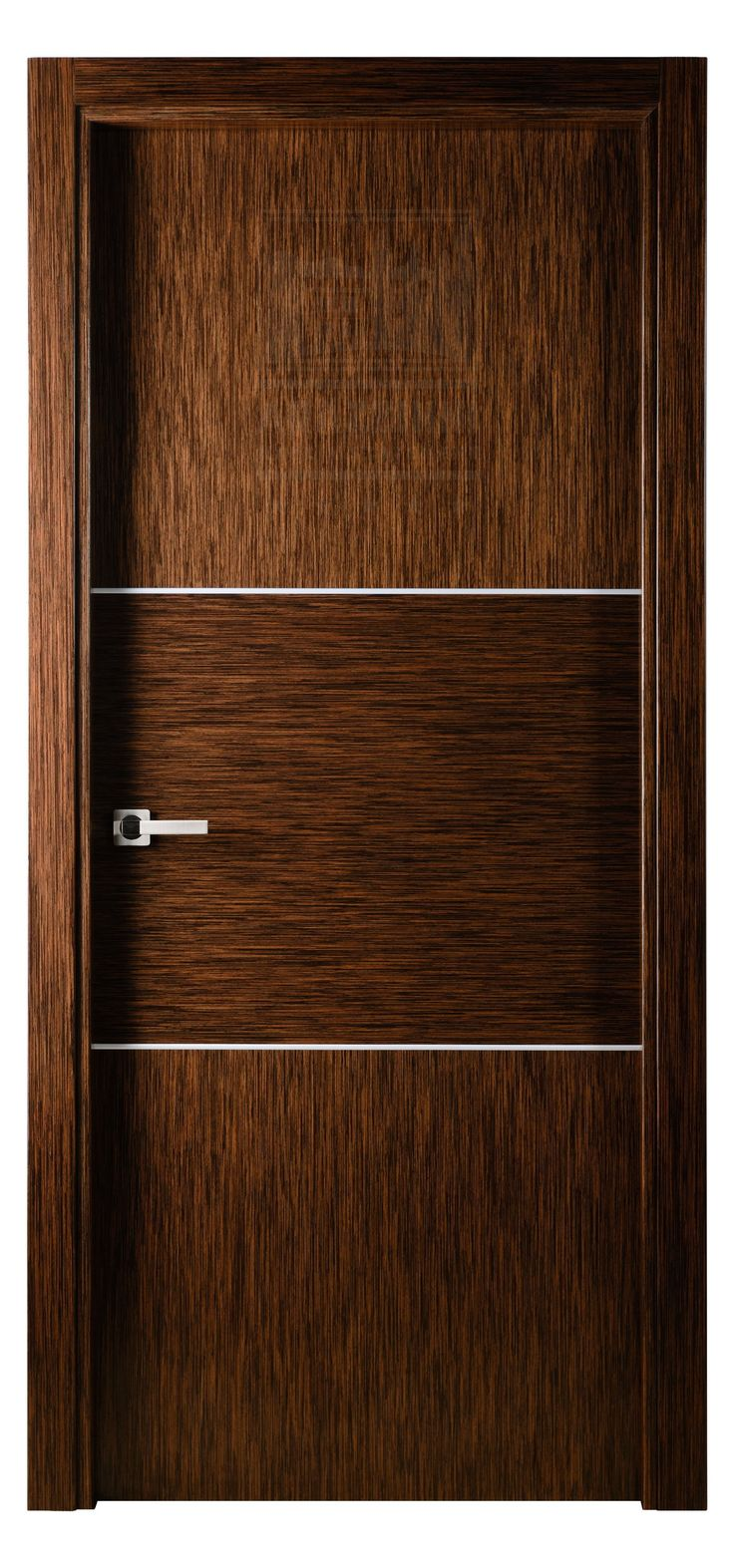 Astra interior door in wenge lacewood finish exotic wood for Wood veneer garage doors