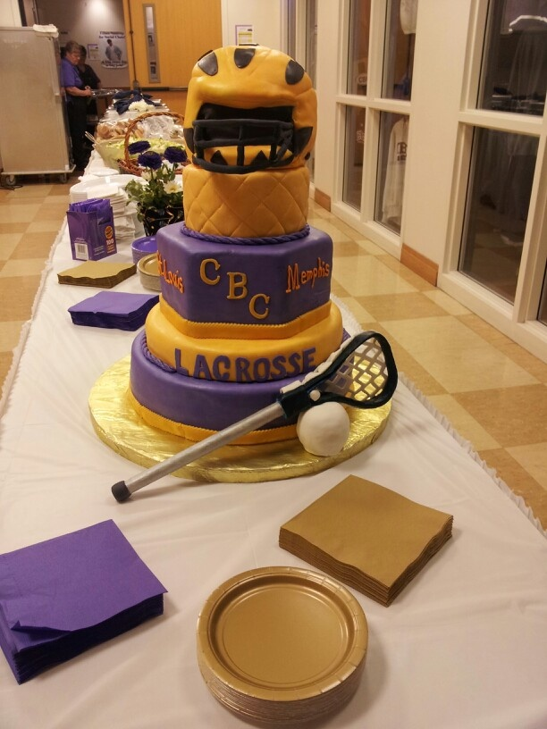 Lacrosse cake. I couldn't make it, but it is great!