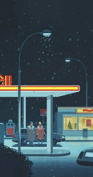 """Emiliano Ponzi """"The sleight of hand, me you and the gas station"""" Illustration for Frankfurter Allgemeine Zeitung"""
