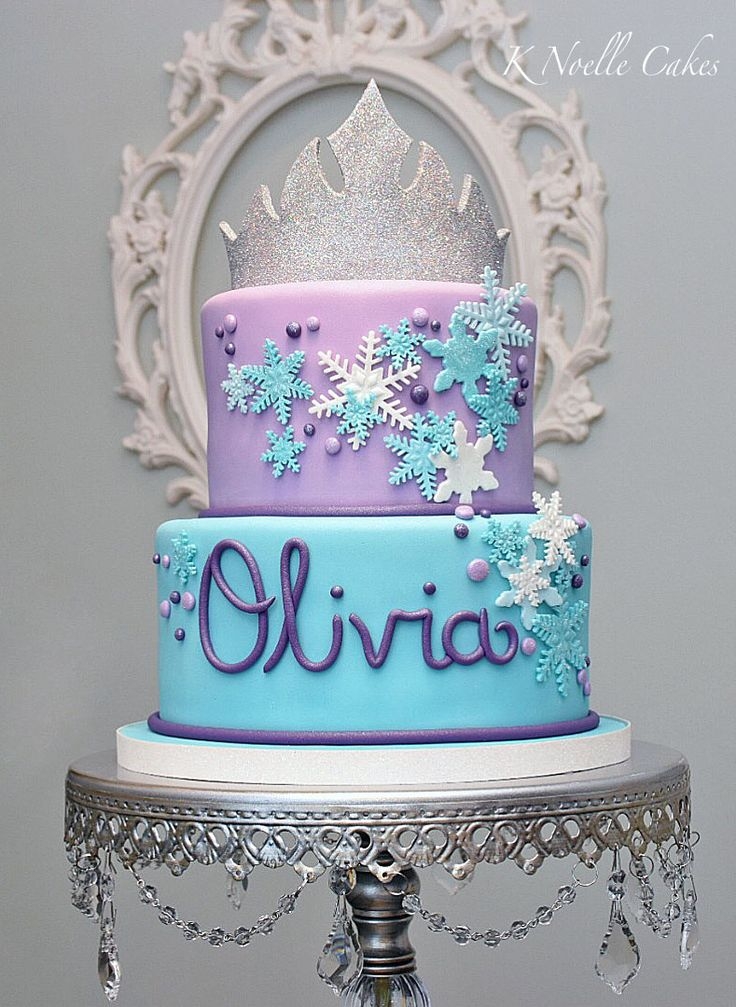 Frozen theme cake by K Noelle Cakes                              …