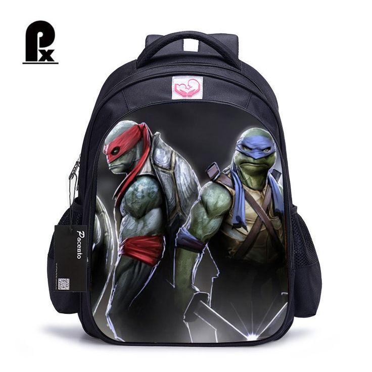 16 Inch Children School Bags Teenage Mutant Ninja Turtles Orthopedic Backpack Kids School Boys Mochila Infantil Catoon Bags Gift #Affiliate