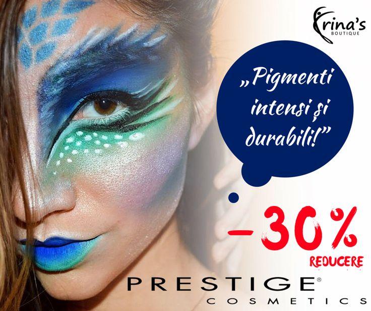 """Frumoasa Make-Up Artist, Eliana Bogdan, recomanda produsele Prestige Cosmetics: """"Produsele de makeup au reușit sa se plaseze pe primul loc în lista toturor cosmeticelor pe care le folosesc atât pentru clientele mele cât și pentru mine. Pigmenți intensi și durabili!""""  In perioada 1-31 Iulie te bucuri de -30% DISCOUNT la toate produsele de make-up PRESTIGE Cosmetics!  #irinasboutique #makeup #prestigecosmetics"""