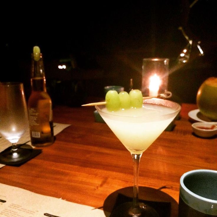 Starting the evening with one of @alilaseminyak signature cocktails: Shadow with @greygoose lychee purée lime juice simple syrup and muddled grapes. It was divine. #Alila #alilatime #alilaseminyak #roomcritic