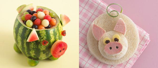 Pig water melon, oink oink sandwich