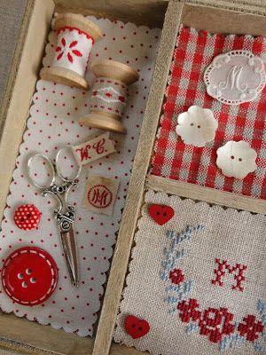 Puntadas y cruces Marijke: Cajas de madera y más