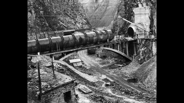 VIDEO – Imagini unice de la începuturile construirii barajului Vidraru. Nu poţi să nu le vezi