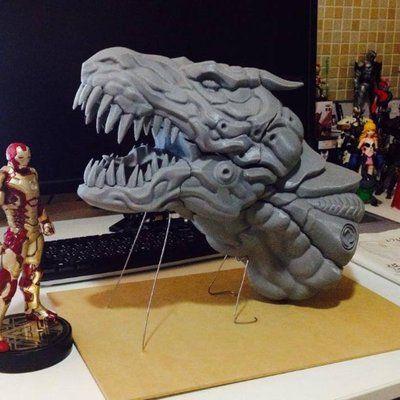 3D printer Art work  Robot dinosaur  https://www.facebook.com/Arton3D/