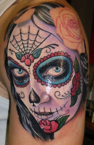 10 images about sugar skull girls tattoo on pinterest santa muerte day of the dead and - Sugar skull images pinterest ...
