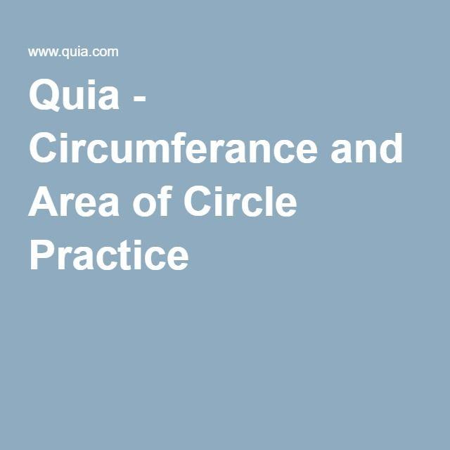 2TEAM Quia - Circumferance and Area of Circle Practice