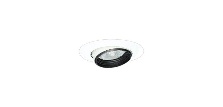 "Elco EL17 6"" Eyeball with Baffle for 75W Bulbs Black / White Recessed Lights Recessed Trims Adjustable Trims"