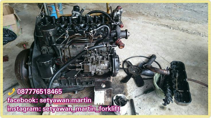 [ Repairing ] ISUZU C240 Forklift Engine