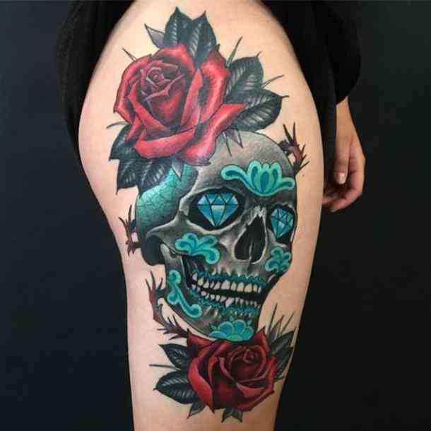 Pin On Sugar Skulls Roses