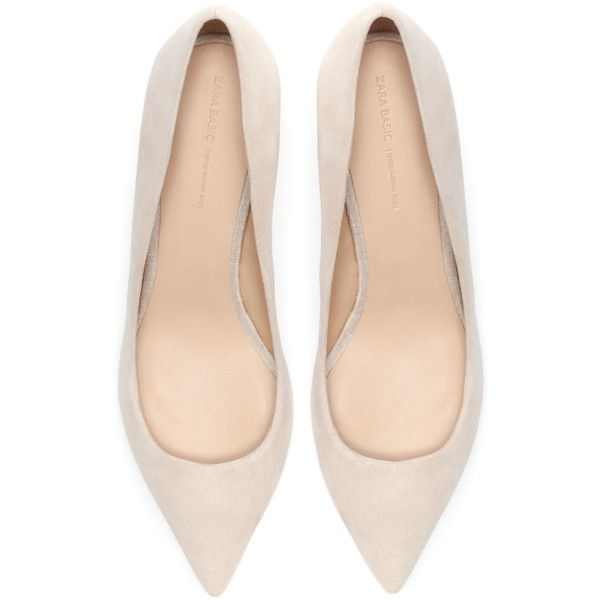 Zara Leather Court Shoe ($30) ❤ liked on Polyvore featuring shoes, pumps, heels, footwear, nude, leather shoes, nude shoes, real leather shoes, nude heel pumps and genuine leather shoes