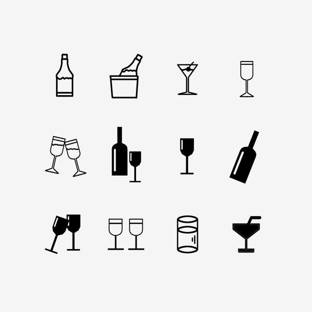 Icon Black And White Color Wine Wine Bottle White Cartoon Hand Painted Wine Png I Plik Psd Do Pobrania Za Darmo Wine Icon Icon Black And White Colour