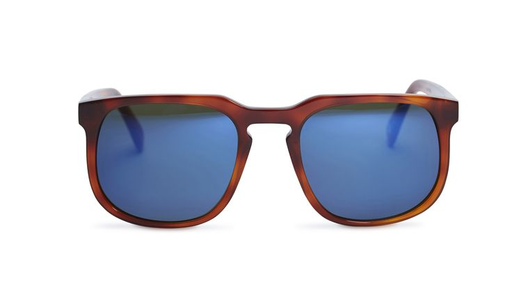 Dino - Whiskey Havana / Green Lens with Midnight Blue Mirror from Pacifico Optical