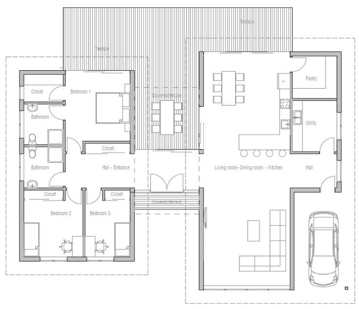 Modern Open Floor Plans: 78 Best Images About Breezeway House Plans On Pinterest