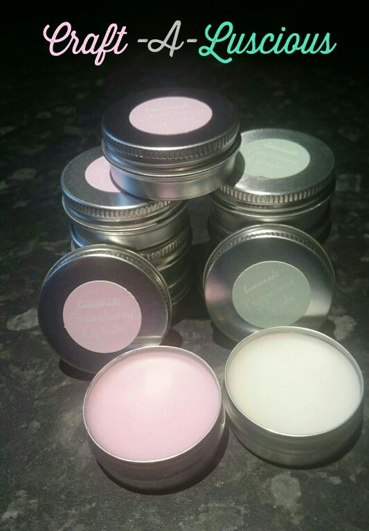 Homemade Lipbalms <Strawberry/Peppermint>