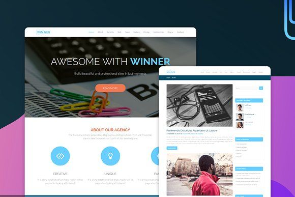Winner Multi Purpose Html Template Interior Design Template Website Template Design Html Templates