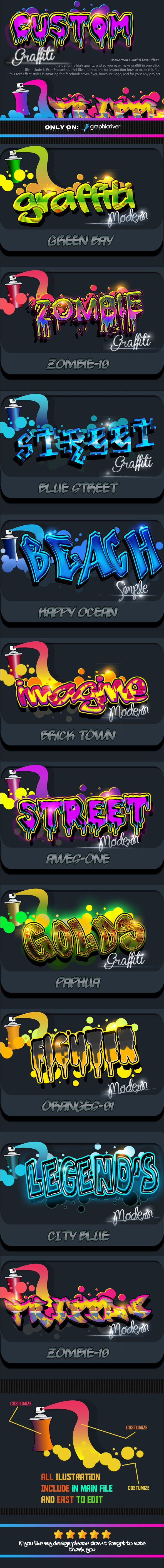 Costum Graffiti Text Effect Styles by Design_8 Costum Graffiti Text Effect Styles is with high quality can produce effect more perfect and interesting for your text, all style e