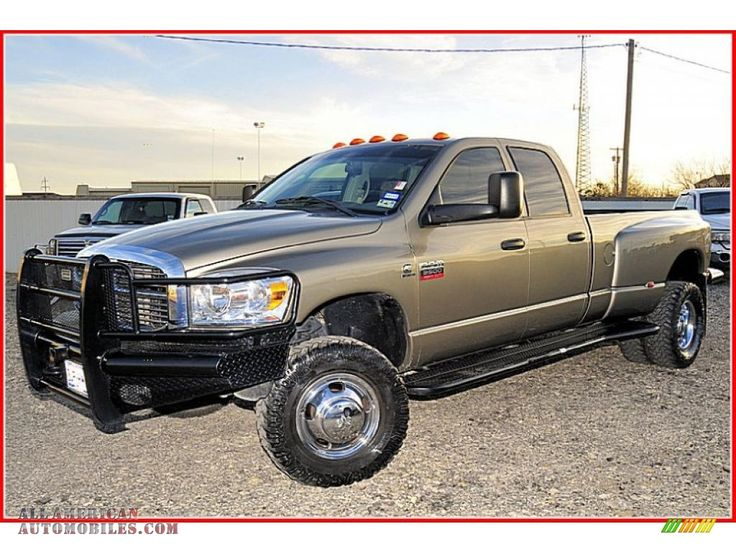 2008 dodge ram 3500 laramie quad cab 4x4 dually in light khaki horse trailers and pickups. Black Bedroom Furniture Sets. Home Design Ideas