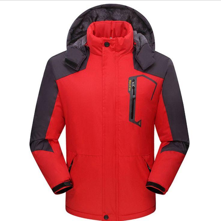 >> Click to Buy << Thick Velvet Men's Winter Jacket -30 C XL 2XL 3XL 4XL Windproof Waterproof Coat Sportswear Men Women's Jackets chaquetas hombre #Affiliate