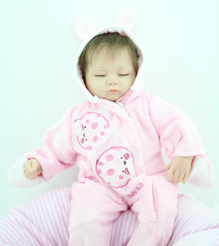 Hot Sale 18 Inch Baby Sleeping Silicone Bebe Reborn Dolls Little Kids Accompany Dolls Boneca Princess Simulation Toys Juguetes #Affiliate