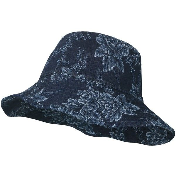 ililily Vintage Distressed Patch boonie Hat Casual Stitched Bucket Hat ($19) ❤ liked on Polyvore featuring accessories, hats, stitch hat, vintage hats, vintage bucket hats, floral bucket hat and floral print bucket hat
