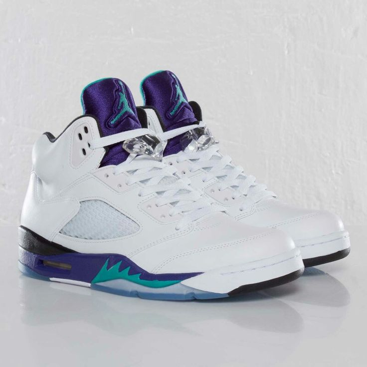 "Air Jordan (Retro) 5's White ""Grape"""