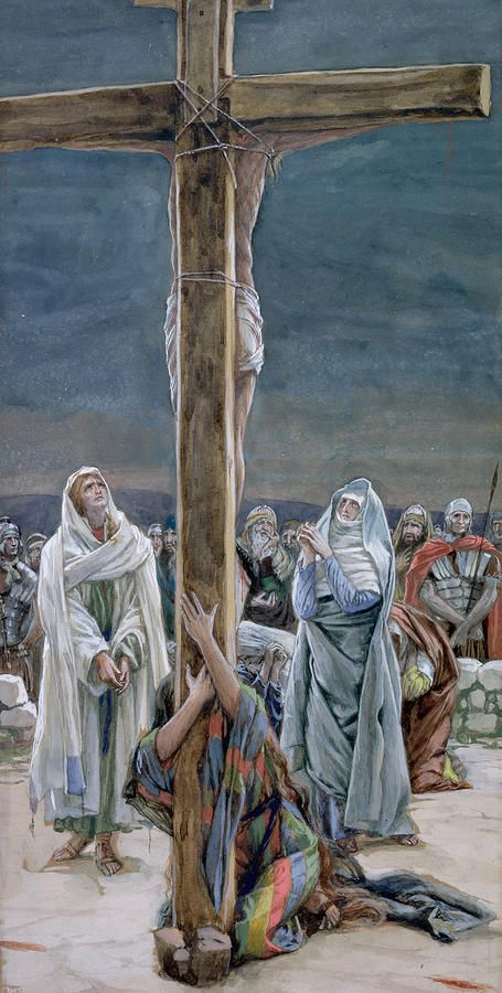 Stabat Mater ~ Woman Behold Thy Son by James Tissot {c.1886-94} ~ Jesus Mary St. John