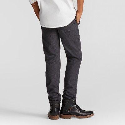 Boys' Charcoal Tweed Cuffed Jogger Pants - Cat & Jack Black 18