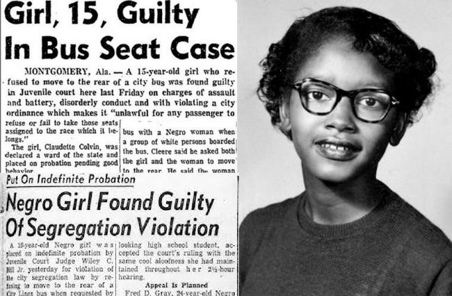 Before Rosa Parks, there was Claudette Colvin. Born Sept. 5, 1939, Colvin made a name for herself at just 15 years old when she took a stand against bus segregation in her hometown of Montgomery, Alabama. In 1955, she boarded a crowded bus with her school friends in Montgomery, and when she refused to give up her seat to a white woman who boarded after her, Colvin was removed from the bus and arrested.